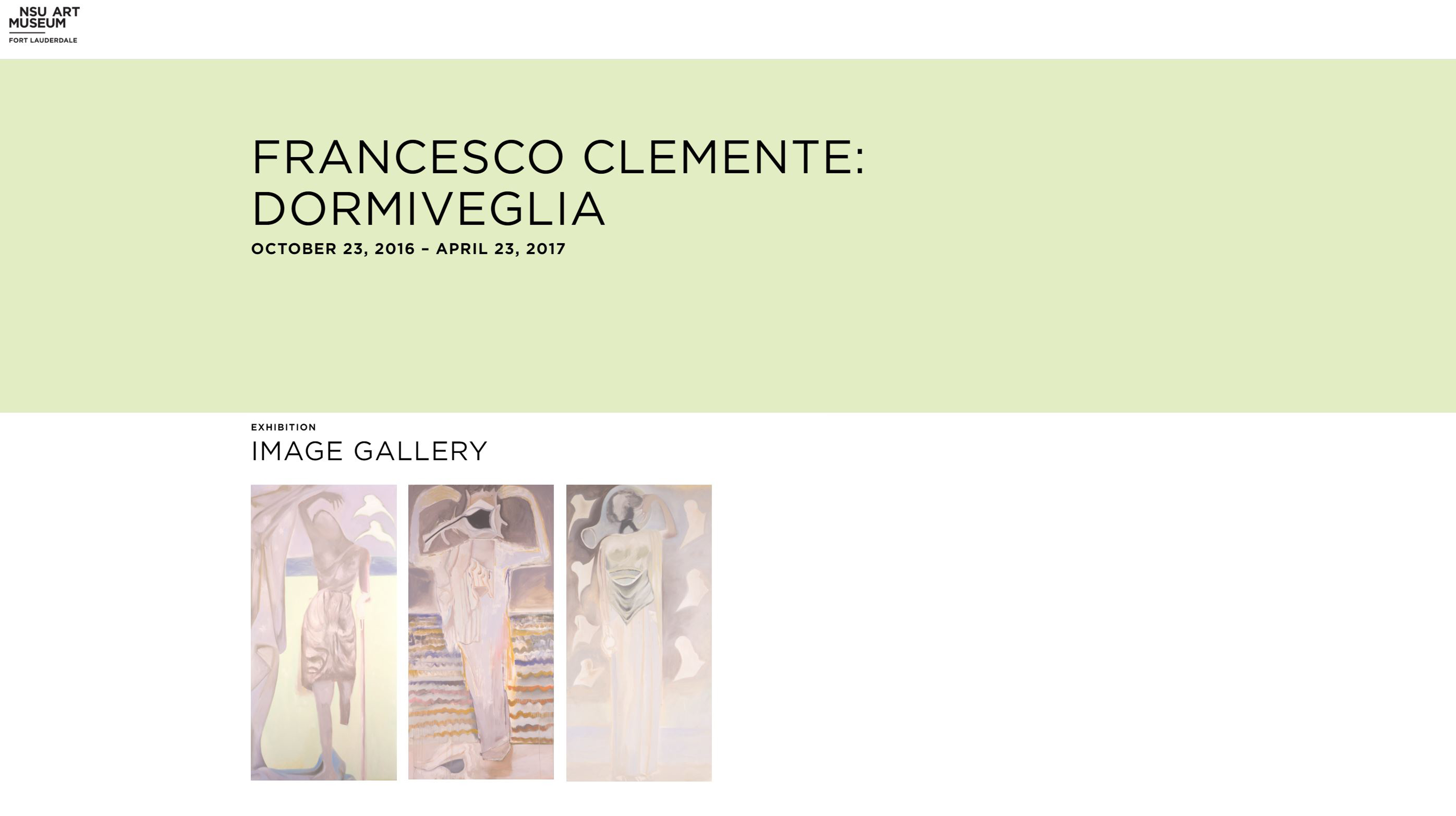 Francesco Clemente at NSU Art Museum Fort Lauderdale