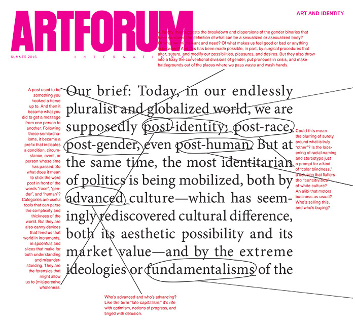 Barbara Kruger in Artforum