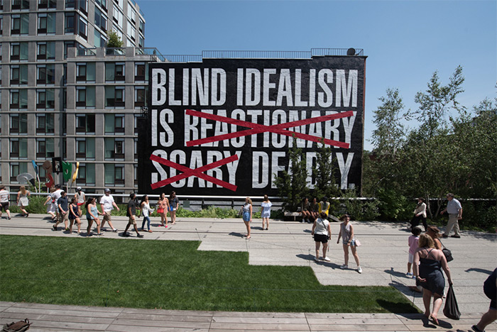Barbara Kruger at The High Line
