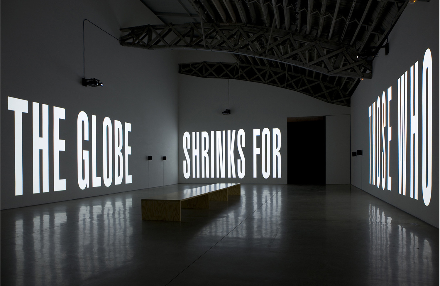 Barbara Kruger still from The Globe Shrinks - View 2