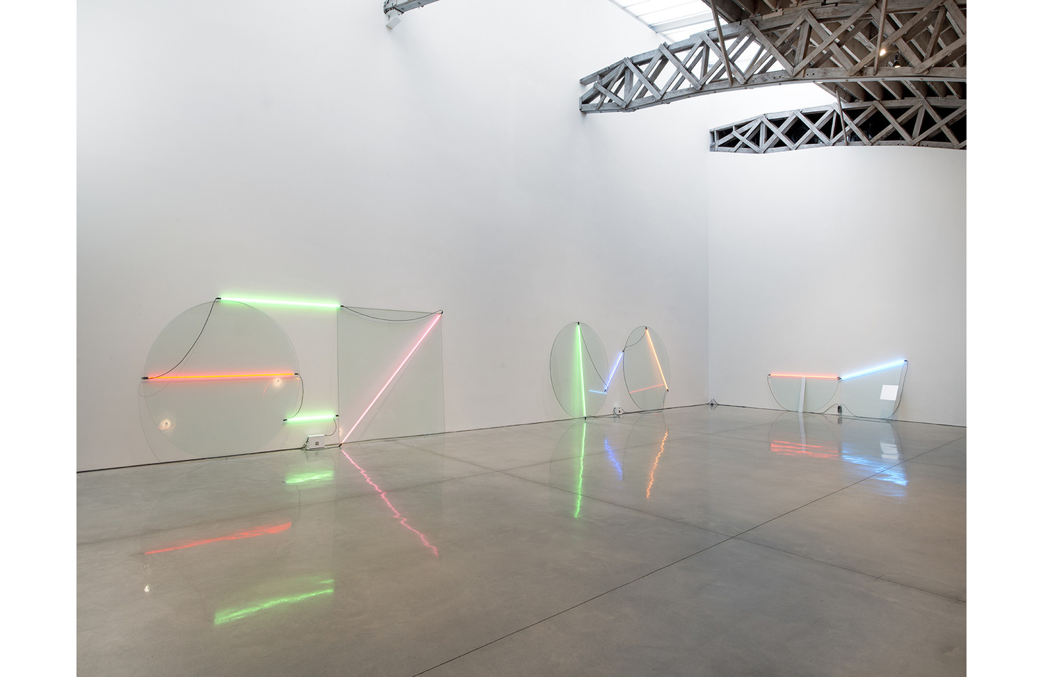 Keith Sonnier Neon Wall Slant - View 1