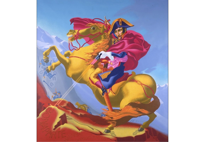 Peter Saul Napoleon Crossing the Alps