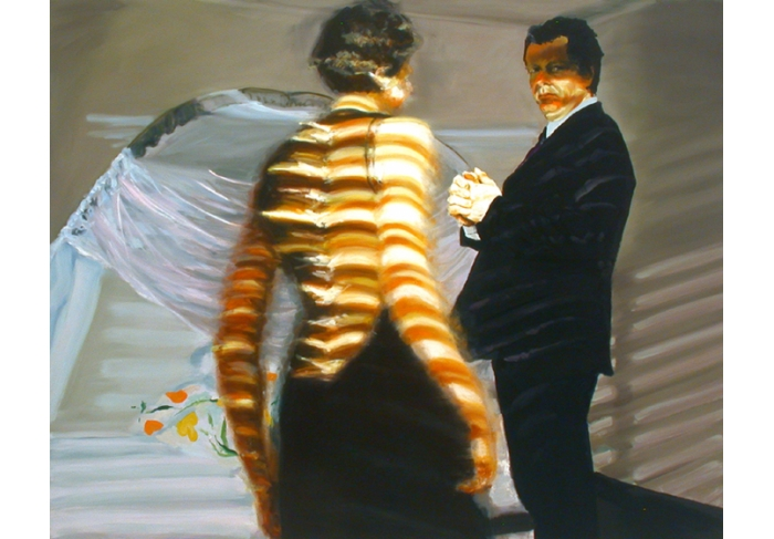 Eric Fischl Bedroom Scene #6 (Surviving the Fall Meant Using You for Handholds)