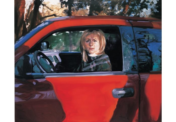 Eric Fischl Christy Sitting in Neil's Truck