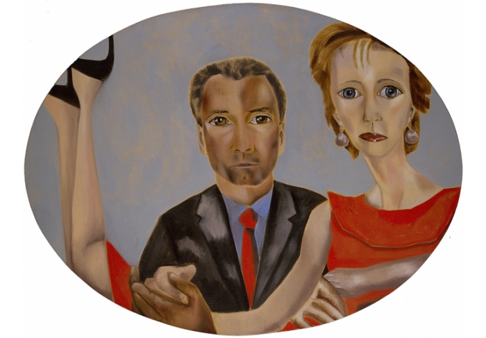 Francesco Clemente Portrait of Bill Gellatly and Margaret Gellatly