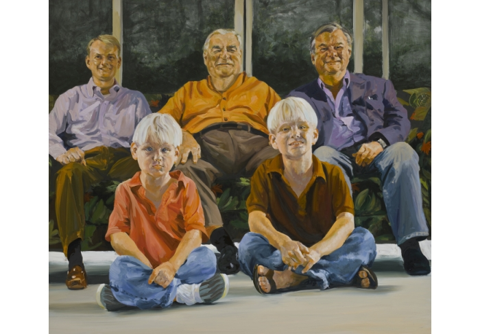 Eric Fischl Four Generations Of Dicke Men