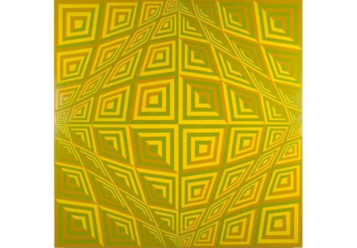Jim Isermann Untitled (yellow 116, ochre 124, green 397)