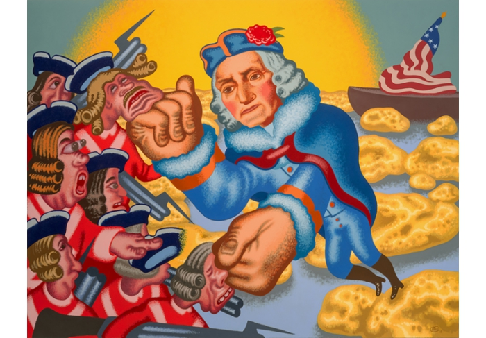 Peter Saul George Washington Crossing the Delaware
