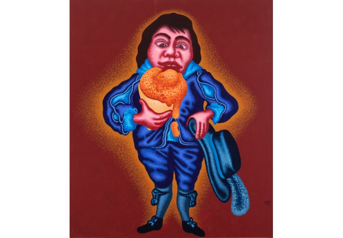 Peter Saul Blue Boy with Ice Cream Cone