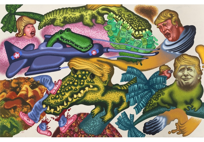 Peter Saul Donald Trump in Florida