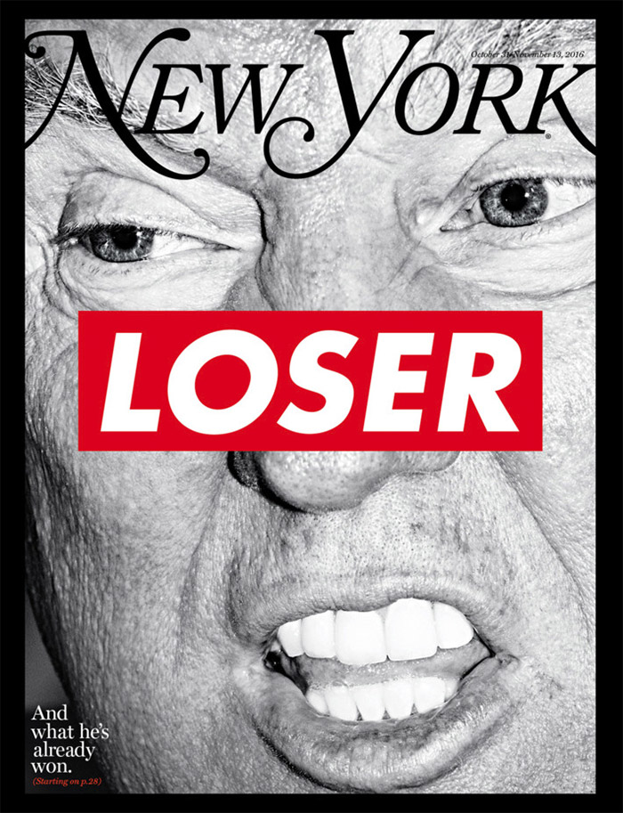 Barbara Kruger Election Issue Cover of New York Magazine